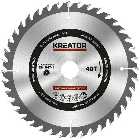 """main image of """"KREATOR KRT020407 - Disco de sierra madera 150mm40d"""""""
