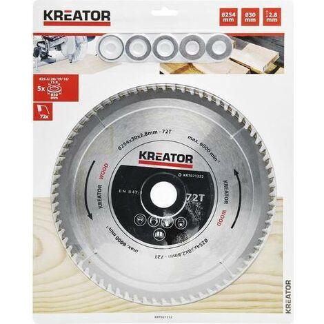 "main image of ""Kreator lama per legno 254 x 30 x 2,8 mm disco 72 denti sega circolare krt021352"""