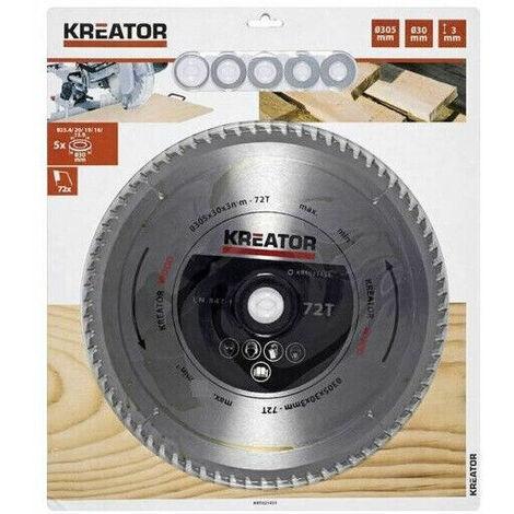 "main image of ""Kreator lama per legno 305 x 30 x 3,0 mm disco 72 denti sega circolare krt021451"""