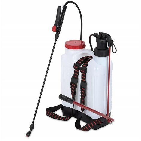 Kreator® - Pulverizador espalda 12 L Impresión de pulverizador Pump - Pulverizador jardín de jeringa Jeringa de malas hierbas Plantas de vinagre