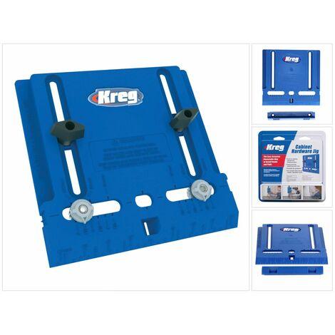KREG Cabinet Hardware Jig Plantilla de taladro para pomos y tiradores ( KHI-PULL ) para armarios y puertas
