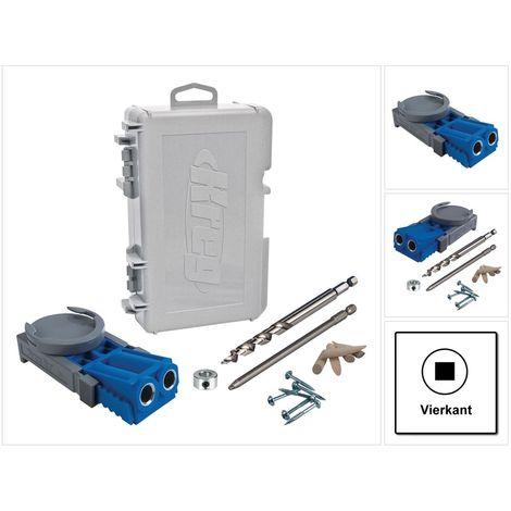 KREG Jig R3 Starter Set ( R3 ) Tischler Komplettset Verbindungssystem Holz mit Bohrschablone R3, Bohrer, Bit, Tiefenanschlag, Holzdübeln, Schrauben und Inbus