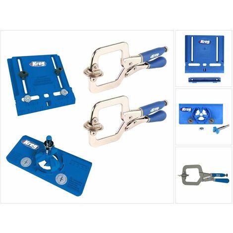 KREG Kit de construction d'armoire avec gabarit de quincaillerie d'armoire (KHI-PULL)