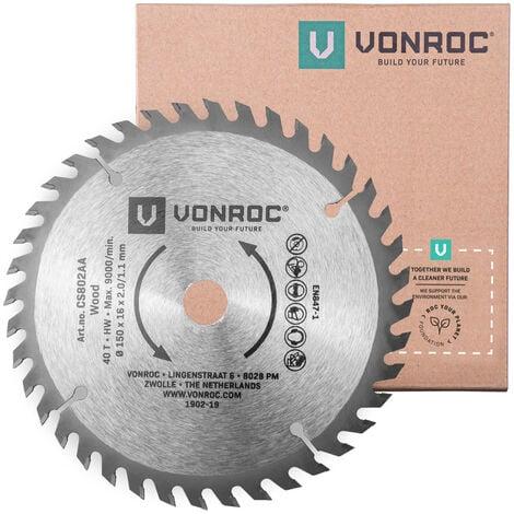 Kreissägeblatt 150 x 16 x 2,0/1,1 mm - 40 Zähne – für Holz – Universal