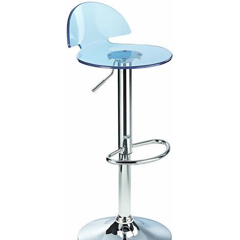 Kresty Blue Transparent Acrylic Perspex Bar Stool