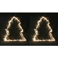 Krismase Árbol de Navidad de 30 Luces LED, 40cm de Altura, decoración Ideal para Navidad, 1 Pieza, Color Blanco cálido