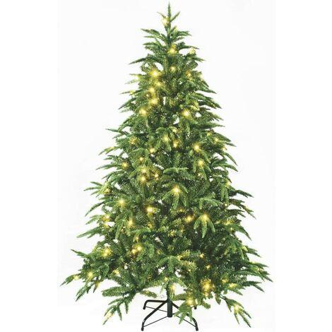 Krismase Árbol de Navidad PE Mixta con 300 Luces LED cálidas, 1.8 Metros de Alto, 987 Ramas, con Soporte metálico, Color Verde Pino [Clase de eficiencia energética A+++][Clase de eficiencia energética A+++]