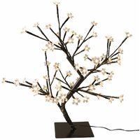 Krismase Lámpara de Mesa de 48 LED, 45 cm de Alto, Estilo de árbol, Luz Ideal para decoración en el hogar, Color cálido Blanco[Clase de eficiencia energética A+++]