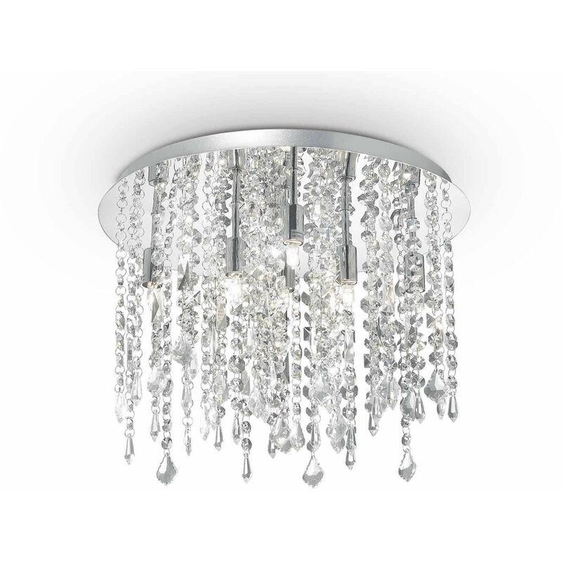 Kristall Deckenleuchte ROYAL Kristall 8 Glühbirnen - 01-IDEAL LUX