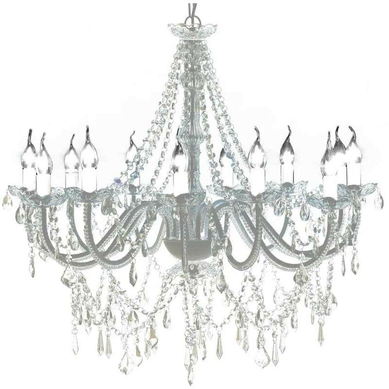 Hommoo - Kristall Kronleuchter mit 1600 echten Glas Kristallen VD30889