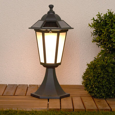 Kristin pillar light with LEDs & solar technology