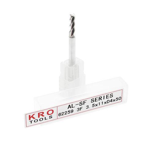 KRO Set 3 mini brocas Ø 3.5mm L 11mm Vástagos Micro brocas Acero tungsteno Volframio Fresadoras CNC