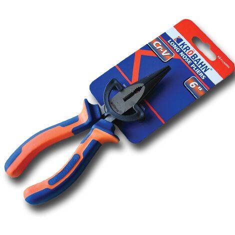 "main image of ""Krobahn KB-PLLN0006 6""/150mm Long Nose Pliers - Wire Cutter Needle Pinch Nosed Plier"""