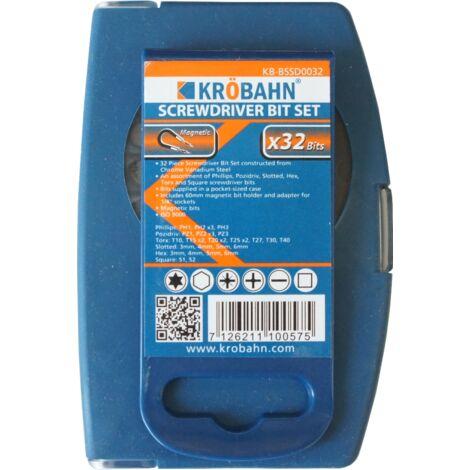 KROBAHN - SCREWDRIVER BIT SET 32 BITS, KB-BSSD0032