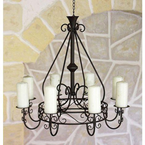 Kronleuchter 101318 Kerzenhalter D-60 cm Kerzenständer Hängeleuchter aus Metall