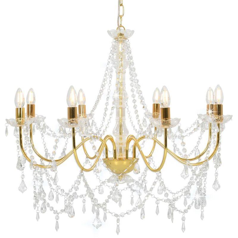 Zqyrlar - Kronleuchter mit Perlen Golden 8 x E14-Fassungen