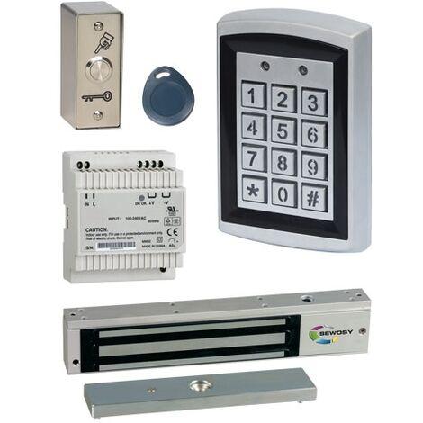 KRRVA Kit de contrôle d'accès YAKA avec ventouse 300 DaN en applique SEWOSY 12V - SEWOSY