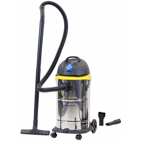 KRÜGER KRA31TLS - Aspirador polvo-líquido Telecontrol – Soplador 1400 W 30L