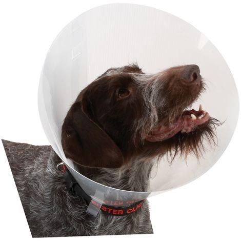 Kruuse Buster Classic Transparent Plastic Dog/Cat Cone Collar (7.5cm) (Clear)