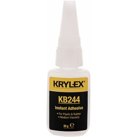 KRYLEX® KB244 Instant Adhesive - Plastic & Rubber - Low Viscosity - 20g