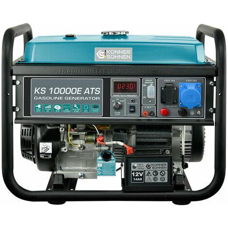 KS 10000E ATS Benzin Stromerzeuger 8000 Watt, 1x16A (230V), 1x32A (230V), 12V, E-Start, ATS Notstromautomatik, Automatischer Voltregler(AVR), Anzeige (Volt, Hz, Arbeitszeit), Generator, 100% Kupfer