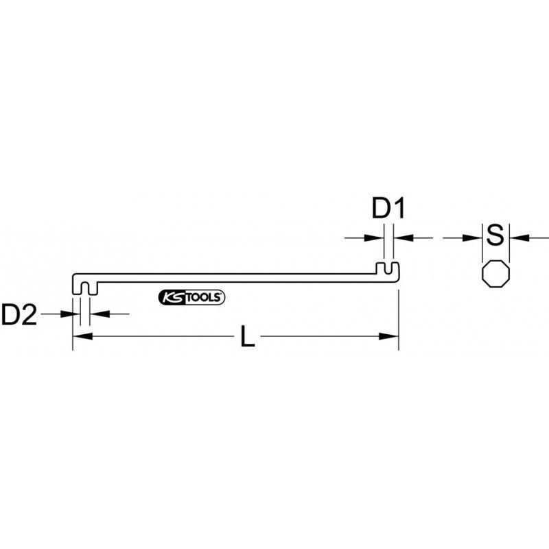 KS Tools 118.3121 Griffe de ferrailleur 8 x 10