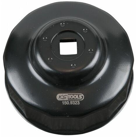 KS TOOLS 150.9323 Clés filtre huile 3/8 Ø73mm 15.42