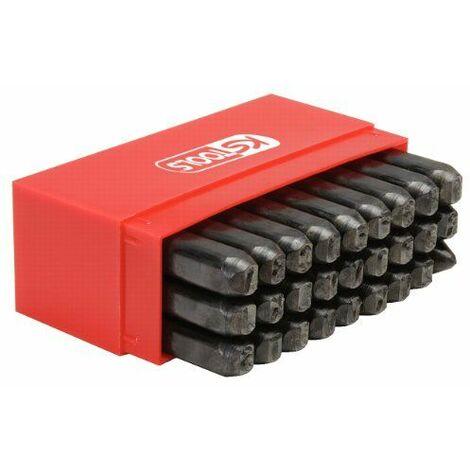 KS Tools 156.0468 Jeu de 27 lettres à frapper 5 mm