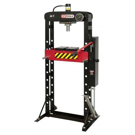 KS TOOLS 160.0113 Presse hydraulique 20 tonnes à pompe hydraulique 2 vitesses
