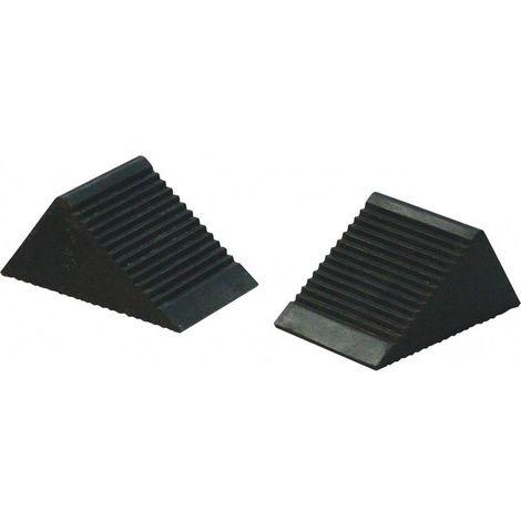 KS TOOLS 160.0382 Paire de cales roues caoutchouc VL 105 x 75 x 75 mm 15.71