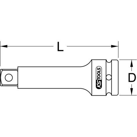 """90mm KS TOOLS 3//4/"""" Kraft-Verlängerung 515.1375"""