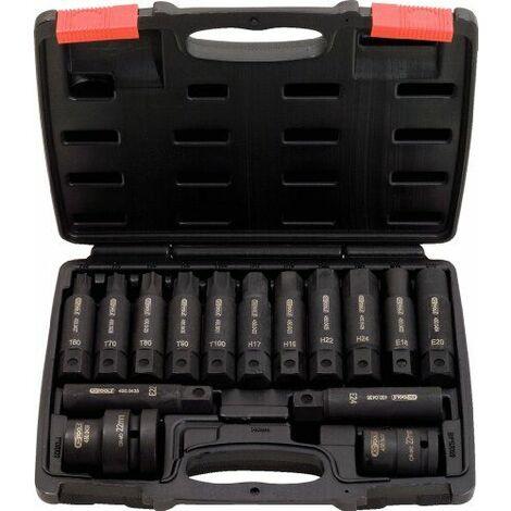 KS Tools 450.0420 Jeu de douilles et embouts longs à choc