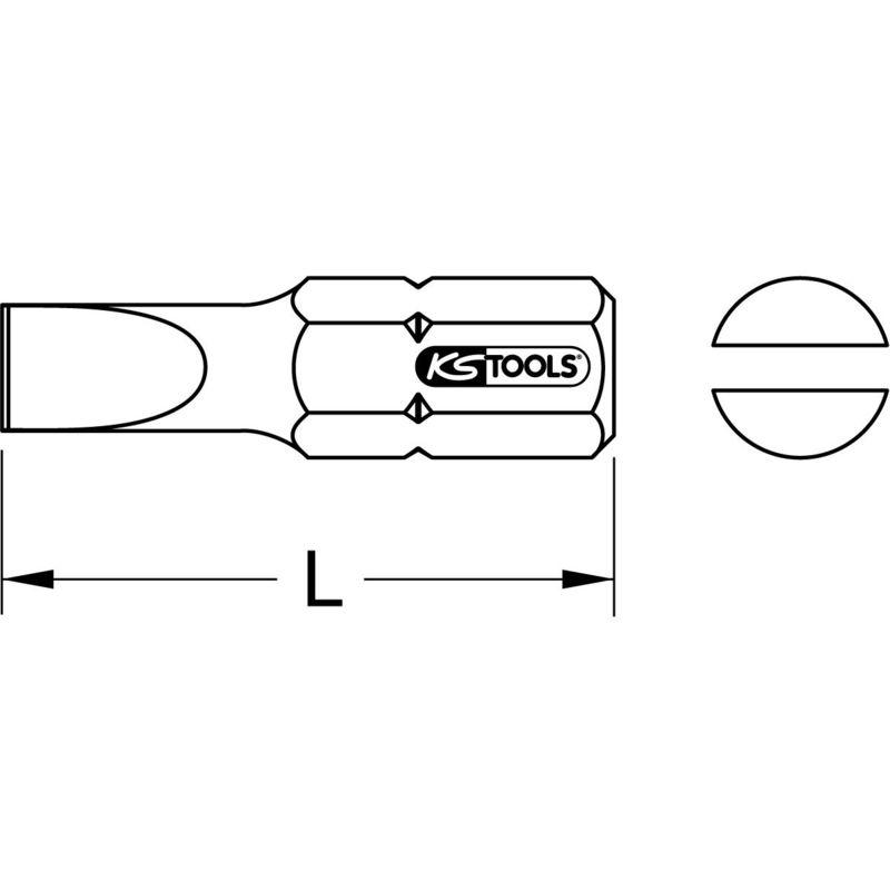 """30mm KS Tools 5//16/"""" CLASSIC Bit Schlitz 20mm"""