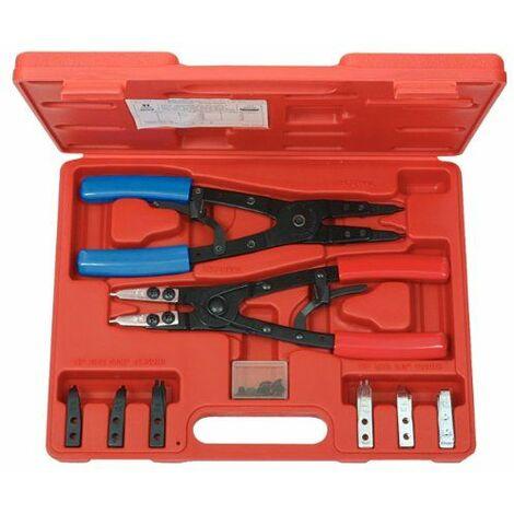 KS Tools 500.1350 Coffret de pinces à Circlips Intérieur et Extérieur