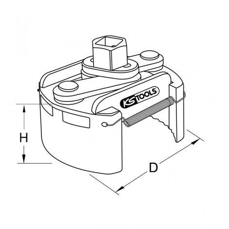 KS TOOLS 700.5006 Clé à filtre universelle à huile 80-110mm