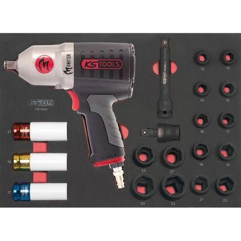 KS TOOLS 712.1020 Module de douilles et clé à chocs pneumatique 1/2'', 20 pièces 327.2563551401869162274192923