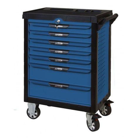KS TOOLS 804.7380 Servante ULTIMATE bleue 7 tiroirs équipée de 384 outils 7 tiroirs