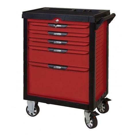 KS TOOLS 809.5380 Servante ULTIMATE rouge 5 tiroirs équipée de 384 outils 5 tiroirs