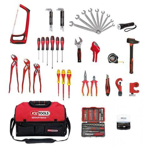 KS TOOLS 850.0126 Composition d'outils sanitaire et chauffage en sac SMARTBAG