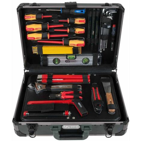 "KS Tools Caja de herramientas electricista 128 pzas 1/4""+1/2"" 911.0628"