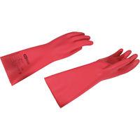 KS TOOLS Elektriker-Schutzhandschuh mit Schutzisolierung, Größe 10, Stärke 2, Klasse0, rot