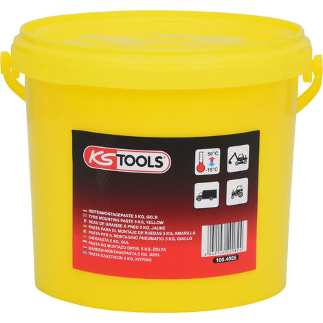KS TOOLS Pâte de montage de pneus 5 kg, jaune