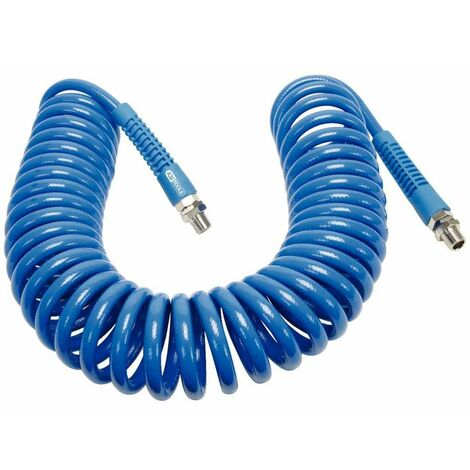 KS Tools Spiral Air Pneumatic Hose For Compressor Workshop Garage Multi Sizes