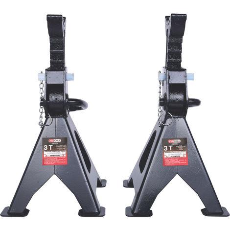 KS TOOLS Stahl-Unterstellbock mit Schnellverstellung, 3 t, paarweise