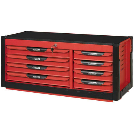 KS TOOLS Ultimate Chest - Red - 8 drawers - 809.008