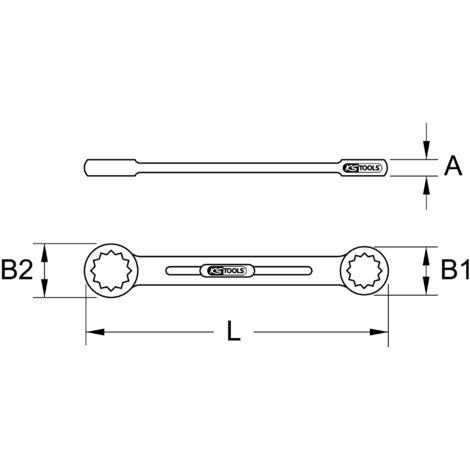 18x19mm KS Tools 920.0418 ULTIMATEplus Doppel-Ringschl/üssel