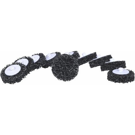 KS TOOLS Zapatas de recambio, Ø50mm, muela de cinta negra, paquete de 10