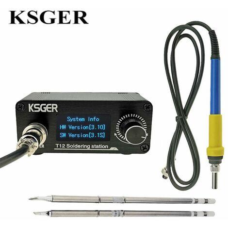 KSGER Mini STM32 V3.1S OLED T12 Station de fer à souder bricolage en plastique 907 9501 poignée outils électriques chauffage rapide T12 fer conseils 8 s bo?tes
