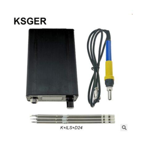 KSGER T12 STM32 V3.1S Station de fer à souder à souder OLED DIY Poignée en plastique Outils électriques Chauffage rapide T12 Fer Conseils 8s Bo?tes 907 9501 Poignée avec 3Pcs T12 Conseils