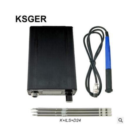 KSGER T12 STM32 V3.1S Station de fer à souder à souder OLED DIY Poignée en plastique Outils électriques Chauffage rapide T12 Fer Conseils 8s Bo?tes 907 9501 Poignée avec 3Pcs T12 Conseils A
